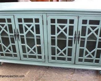 NEW Shabby Chic Distressed 4 Door Credenza  Auction Estimate $200-$400 – Located Inside