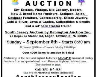 September 8th 2019 South Jersey Auction center