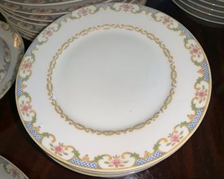 Haviland Limoges 12 piece place setting with serving pieces