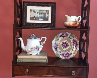 Mahogany Chippendale style shelf