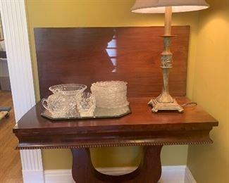 Antique Empire style game table/foyer table
