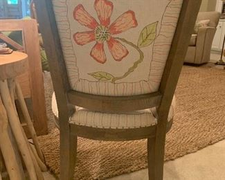 Hand painted French chair