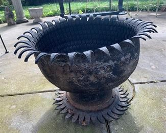Unique planter handmade from tires