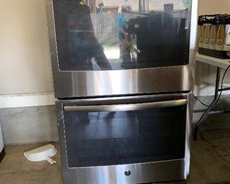 GE double oven