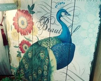 Many Peacock items like  this lovely picture