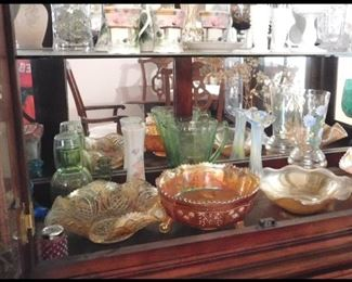 Bob China Cabinet with Many Collectibles