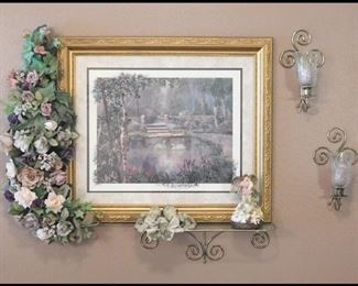 Beautifully Framed Print Featuring Swans.