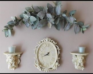 Decorative Wall Art with Angel Candles.