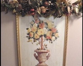 bob M Johnston Classic Rose and Urn Decorative Print