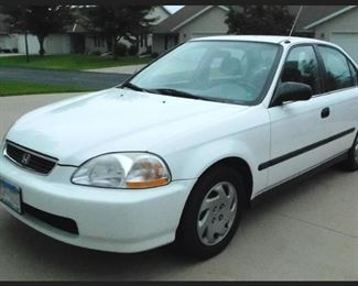 1997 Honda Civic.  One Owner,  66,000 Actual Miles,  No Rust, Regularly Maintained with Service Records.