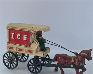Cast iron ice wagon