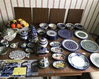 Polish pottery naught in Poland.