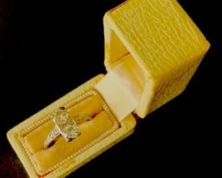 Art Deco miner cut diamond ring.