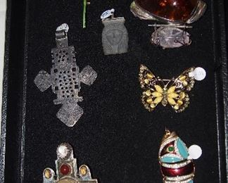 Signed Mexican Sterling and Costume Jewelry