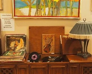 GREAT Mid C. Art, Record Player and lots records