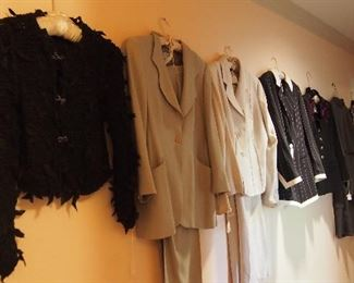 Vintage Designer Clothes, Shoes and purses inc. Armani, Valentino, Tahari, Kate Spade, Paloma Picasso, Calvin Klein and more