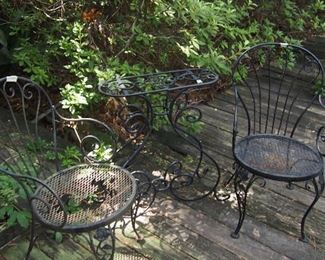 Metal Garden chairs & Table