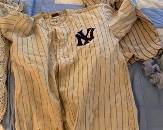 Original New York Yankee Bobbie Bryne Uniform