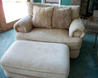 Flexsteel chair & ottoman
