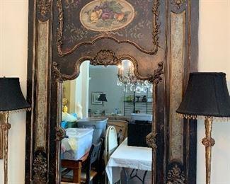 Gorgeous hand painted habersham mirror.