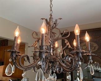 Antique chandelier from atherton mills