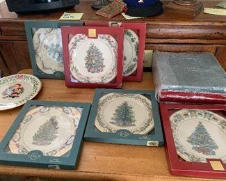 Lenox Christmas plate collection.