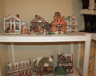 Lefton Christmas buildings