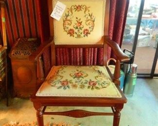 LOVELY NEEDLEPOINT CHAIR