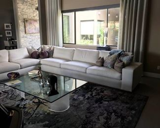 Custom Ivory Couch