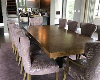 Dining Room Table and Ten Chairs