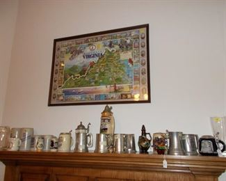 Vintage Steins, Pewter