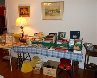 books, civil war books, camel saddle, artwork