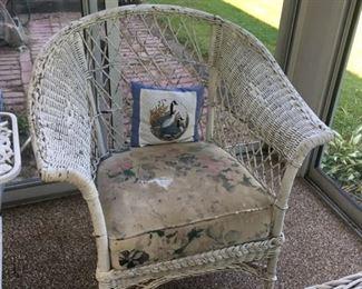 """""""Open"""" Wicker Chair"""