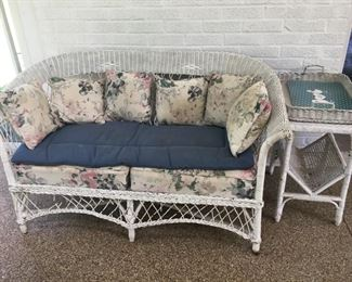 Settee, End Table and Serving Tray
