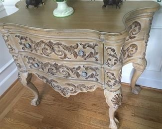 French Antique Style, Carved, 2 drawer Chest