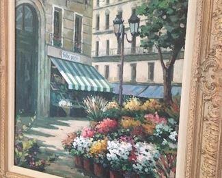 French  Street Flower Art