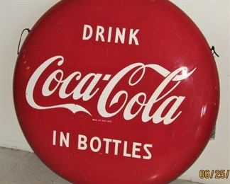 "Coca Cola 48"" (4 foot) button sign"