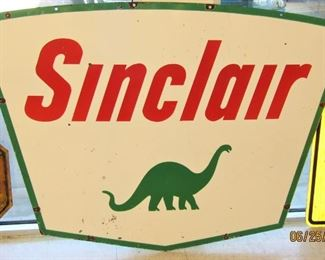 """Sinclair"" Double Sided Porcelain Island Sign"