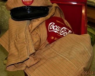 1940/50's Coca Cola Delivery Drivers Uniform Complete with Hat.