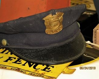 Vintage 1950's Minneapolis Police Hat with Badge