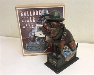 cast iron banks bulldog cigar