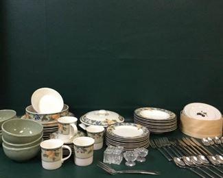 dinnerware mikasa intaglio garden harvest stoneware