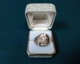 jewelry 10k gold josten ring