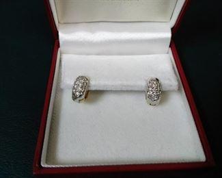 jewelry 14k gold diamond earrings