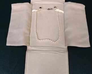 jewelry pearl necklace silver clasp