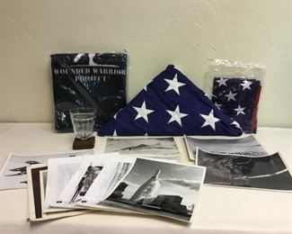 military flag and nasa photos