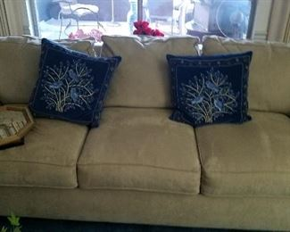 very nice sofa.  blue pillows have been sold