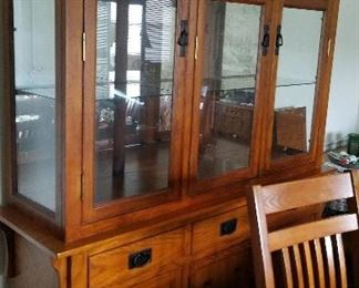 2 piece large china cabinet