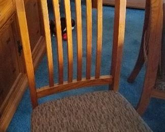0ne of the 6 dining room chairs . we have a table to match, but no picture yet