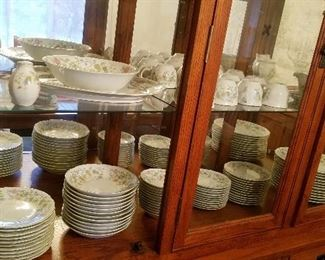 buffet with a nice set of china
